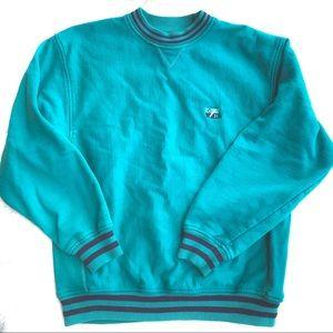 Cutter & Buck Vintage Crewneck Teal Navy Sweater